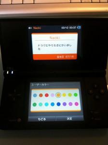 DS初期設定画面 8