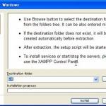 XAMPP for Windowsのインストールウィザード
