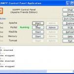 XAMPPコントロールパネルでApacheを再起動