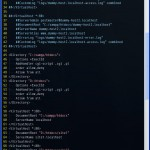 httpd-vhosts.conf ファイルをエディタで編集する