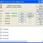 XAMPPコントロールパネル