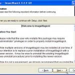 ImageMagickのインストールウィザード